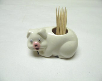 Pig Toothpick Holder Hors d'oeuvres Cheese Pick Dispenser