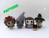 Wizard of Oz Dolls Pattern / Crochet Pattern / Amigurumi Pattern / Amigurumi Doll Pattern / Crochet Christmas Pattern / Kids Pattern