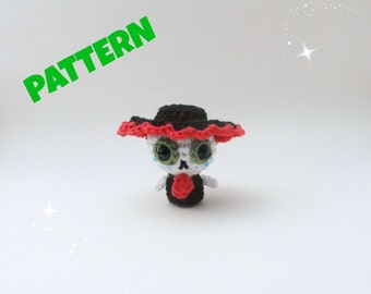 Day of the Dead Doll Pattern / Christmas Crochet Patterns / Amigurumi Christmas Patterns / Crochet Patterns / Amigurumi Patterns / Kids Toys