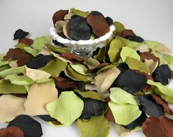 500 Camouflage Wedding Rose Petals - Camo Baby Shower Decoration - Flower Girl Petals - Table Scatter - Camo Wedding Decoration