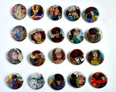 Buy 5 Get 1 FREE--Comic Pin Back Buttons Featuring Rogue Gambit