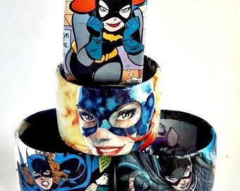 Comic Book Bracelet Featuring Batgirl Barbara Gordon