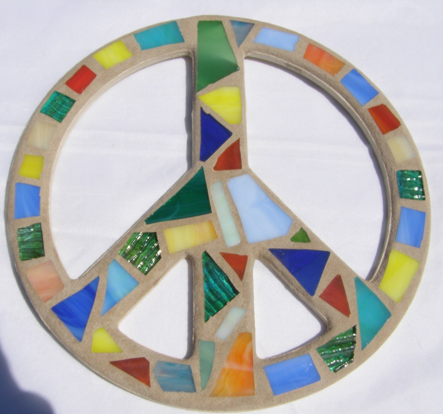 Stained Glass Peace Sign Peace Sign Wall Art By