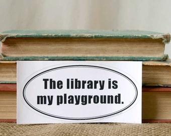 Book Lovers - Library Bumper Sticker