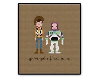 Toy Story - You've Got a Friend In Me - Cross Stitch PDF Pattern