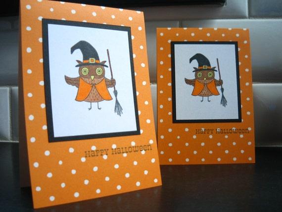 Halloween Card, Owl Witch, Halloween Owl, Owl Witch