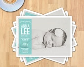Baptism, Baby Dedication, or Christening Invitation or Announcement | 5x7  Photo Card | Instant Download | PSD File | Printable