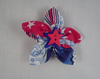 Patriotic hair clip/lapel pin