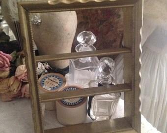 Vintage Gold Ornate Cornered Frame Shadow Box
