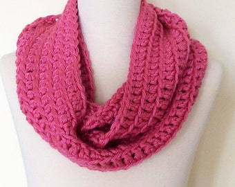 Ready to Ship, Classic Loop Scarf, Bright Pink, Adult