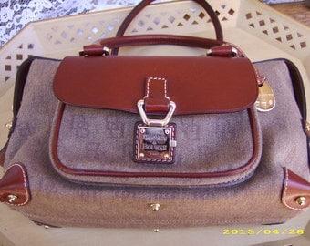 SALE-Signature Logo Dooney and Bourke Brown Handbag Purse