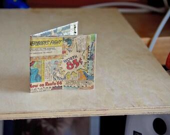 1966 Batman wallet recycled vintage comic book hand sewn comics billfold Joker gift geeks boyfriend girlfriend handmade batman and robin 60s