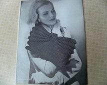"""PDF File Instructions for Crocheting a Vintage 1945 Purse """"Kordette"""" 4812 Fashion Purse, Chic Purse, Handbag, Pocketbook Jack Frost Designer"""