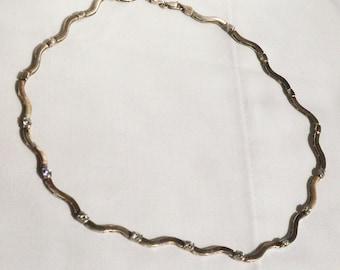 Sterling Silver Rhinestone Necklace