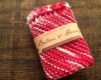 Strawberry Patch, A House Helper, Dishcloth, Knit Dishcloth, Kitchen Cloth, Cloth, Cleaning