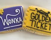 Golden ticket/wonka bars 2 dozen