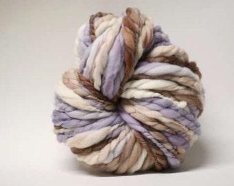 Thick and Thin tTS(tm) Handspun Yarn Wool Merino Slub tts Hand dyed Extra Super Bulky Half-Pounder xxlr TP 1512a