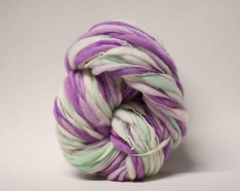 Thick and Thin Merino Yarn Slub tts(tm) Handspun Hand dyed Self Striping xxLRH 1513b