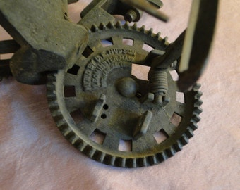Antique APPLE peeler tool kitchen vintage rustic farm 1882 C E Hudson