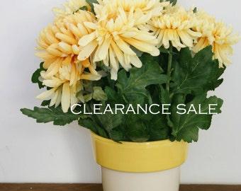 Yellow Flowers, Silk Flower Arrangement, Silk Flower Centerpieces, Table Centerpiece, All Season Arrangements, Yellow Silk Flowers, Dining