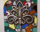 Mosaic Stained Glass Wall Hook Coat Rack Hanger