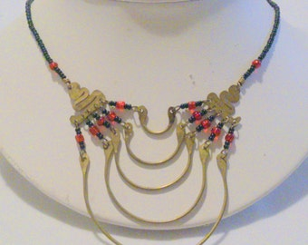 Vintage Ethnic Inspired Seed Bead Necklace