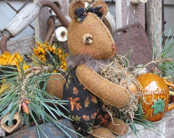 SQUIRREL DOLL~ Made To Order~ Shelf Sitter~ Fabric Doll~ Squirrel Collector~ Woodland~ Squirrel~ Nursery Decor~