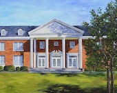 Fine Art Print- Julia Barron Hall, Historic Judson College, Marion Alabama