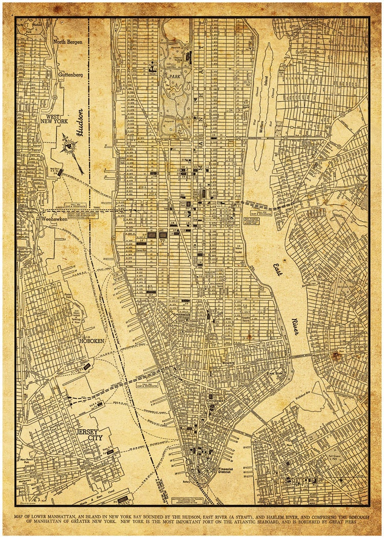 It's just a picture of Simplicity Printable Street Map of Manhattan
