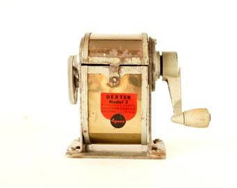 Vintage Dexter Pencil Sharpener Model 3 (c.1920s) - Collectible, Office Decor, Back to School