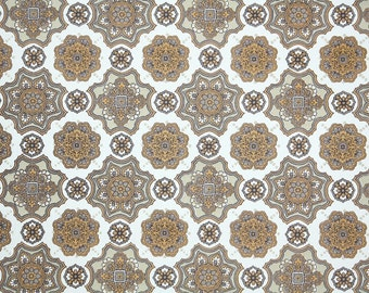 Retro Wallpaper by the Yard 70s Vintage Wallpaper - 1970s Brown and White Geometric