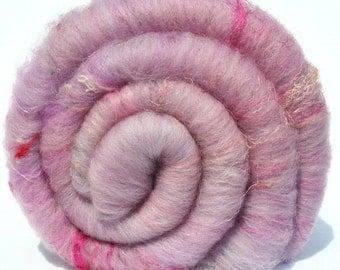 Batt Merino Faux Cashmere Pulled Silk Sari Thrums Angelina 67g 2.4oz OOAK Ready to Ship International - Rare Pegasus