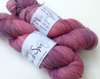 "Clearance - Hand dyed Yarn, ""Wavelength"", Worsted Superwash Merino"