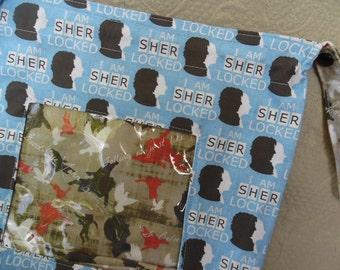 "Reversible WIP bag, ""Sherlock"" size Large with window"