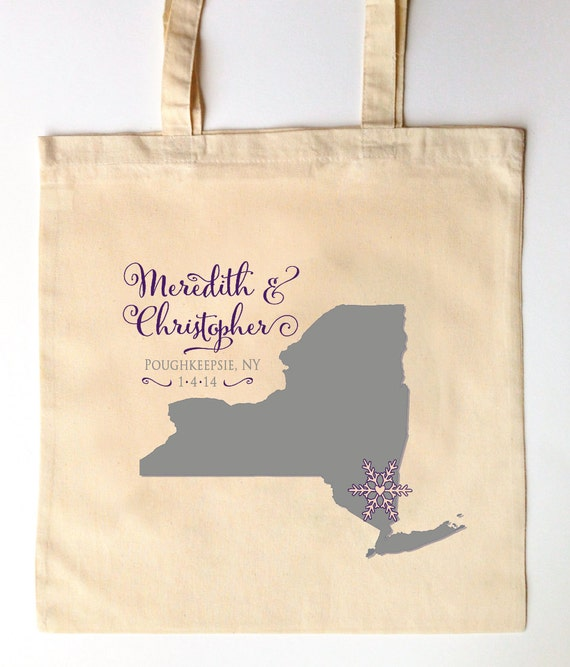 ... - Custom Printed Wedding Guest Canvas Tote Bags - New York Wedding