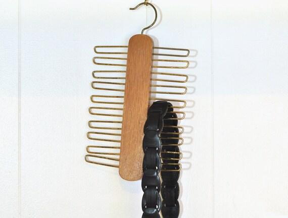 Vintage Tie Belt Rack Holder Mid Century Closet Organizer