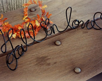 Fall Wedding Decorations, Fall In Love Table Sign Rustic Elegant Decor