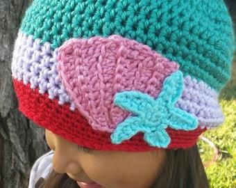 Made to order Disney Little Mermaid Ariel inspired beanie