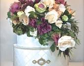 Wedding Card Box Mauve Floral Basket Wedding Box, Custom Card Box Money Holder Handmade Wedding Card Boxes Gift Card Boxes Wedding Reception