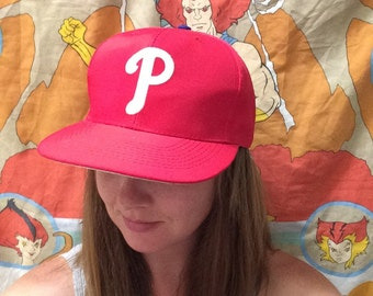 Vintage 1990's Philadelphia Phillies Hat! Retro MLB Snapback!