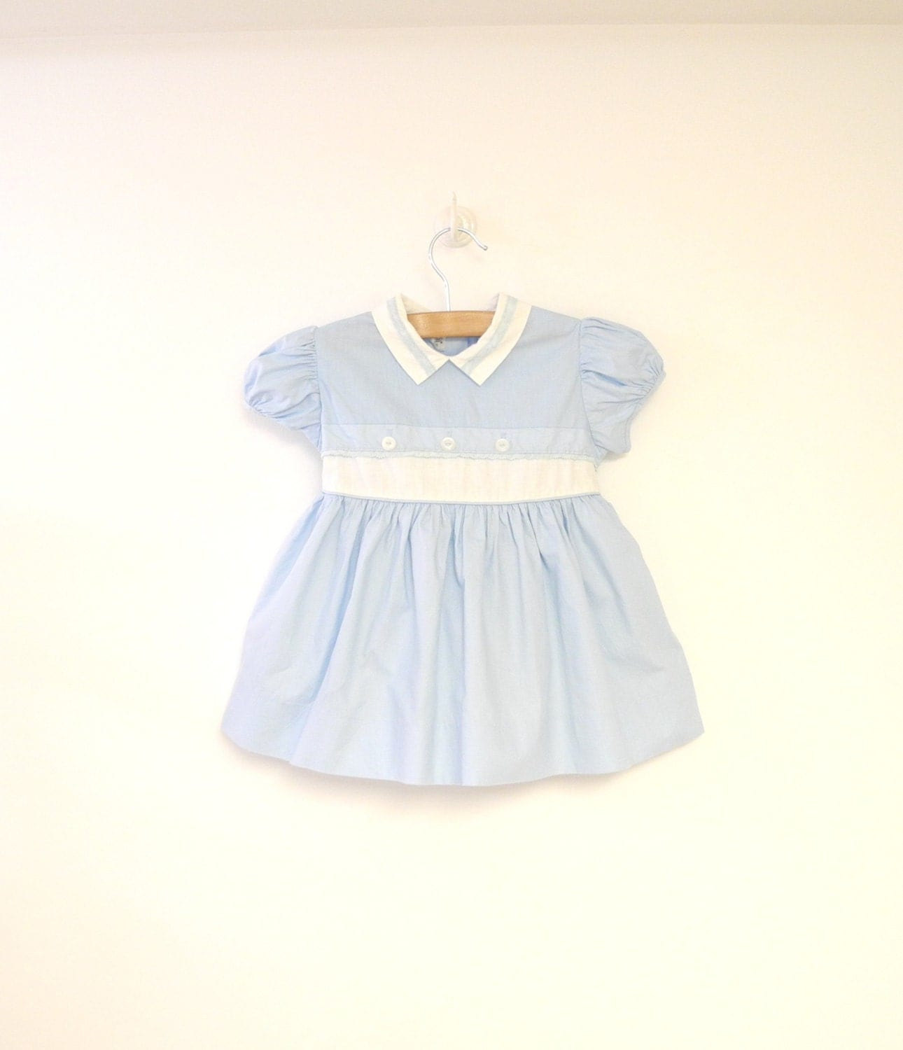 vintage baby clothes 1950 s light blue and white lace