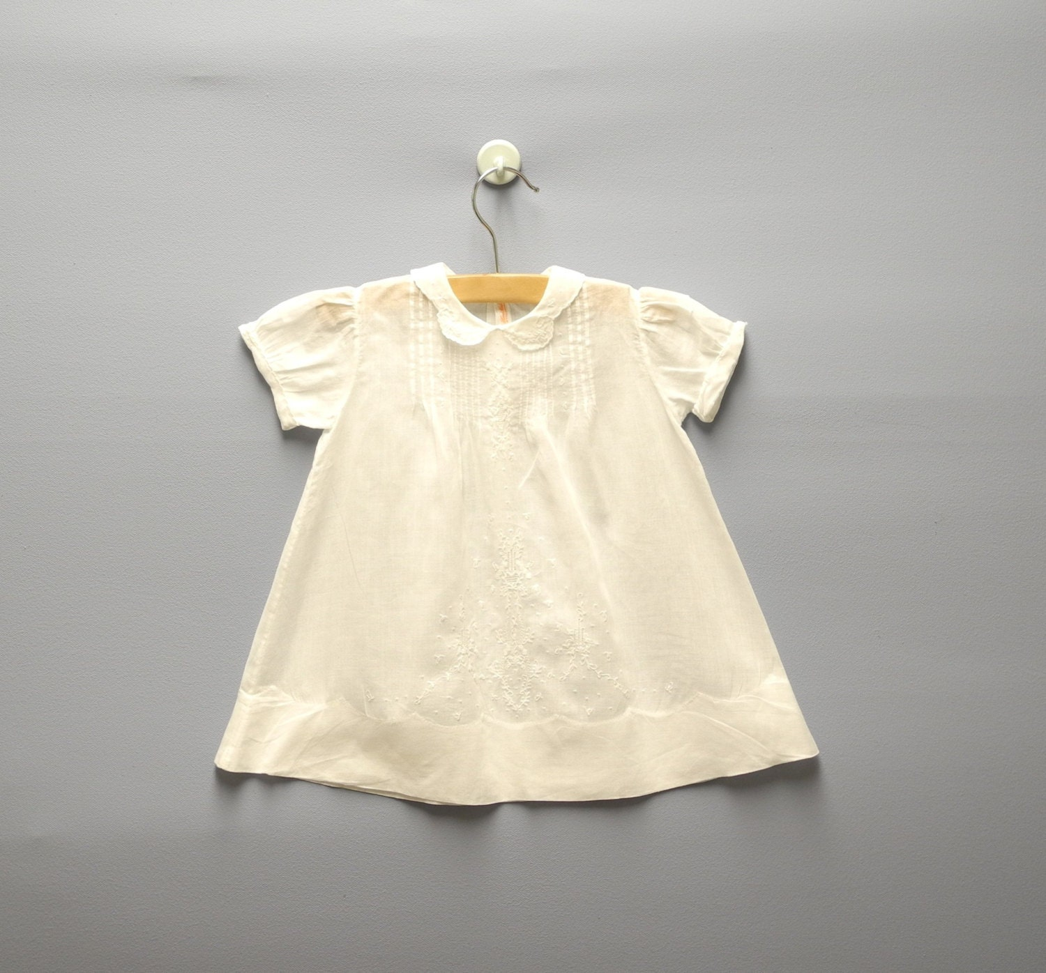 vintage baby clothes 1940 s handmade white cotton