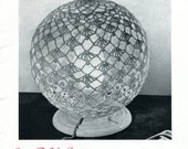 1950's Lacy Globe Lamp Cover Crochet Pattern Instant Download PDF