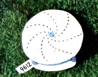 1950's Brimmed Baby Boy's Cap Crochet  PDF Pattern Instant Download