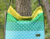 Bucket Bag in Japanese Linen Tote, Purse, Teal, Aqua, Citron, Emerald, Eggplant, dot, mochi, bonnie