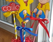 NEW - Caillou Die Cut Centerpieces, SET of 3