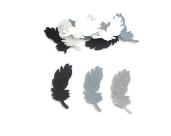 Felt feathers for crafts die cut shapes bird feathers white style 8