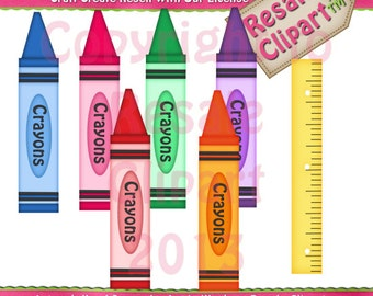 Crayon Colors 1 Clipart (Digital Download)
