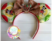 Christmas Mickey & Minnie Mouse Ears with Pearls!!