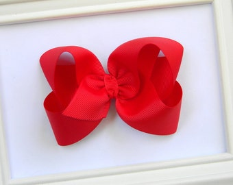 Red Boutique Hair Bow - Red Hair Bow - Large Red Boutique Bow